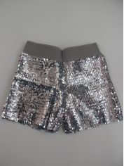 Silver Sequin Shorts - Sequin Costumes