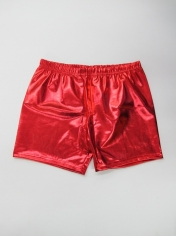 Red Metallic Shorts