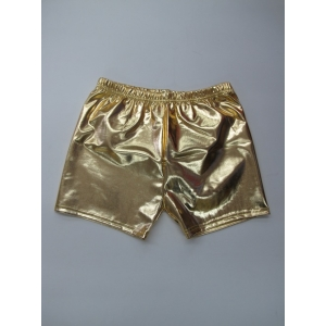 Gold Metallic Shorts