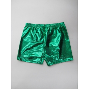 Green Metallic Shorts