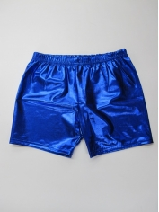Blue Metallic Shorts
