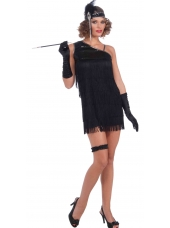 20's Black Flapper Dress - Women Costumes