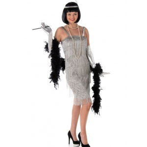 20's Silver Flapper - Women's Costumes