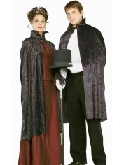 Black Velvet Cape - Adult Costumes