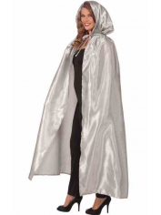 Silver Hooded Cape - Womens Costumes