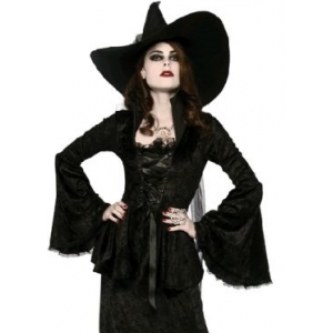 SOUL CRUSHED VELVET TOP - Halloween Womens Costumes