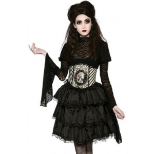 BLACK RUFFLE SKIRT- Halloween Women Costumes