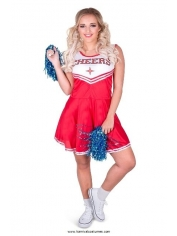 Red Cheerleader - Women Costumes