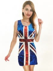 Union Jack Sequin Dress - British Flag Costumes