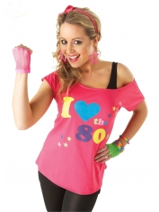 I LOVE THE 80s T-SHIRT - 80's Costumes