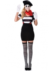 Mime Girl - Adult French Costume