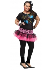 80's Pop Party Dress - 80's Women Costumes