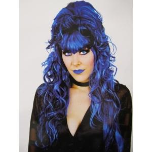 Bule Black Beehive Wig