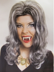 Ladies Grey and Black Vampire Wig