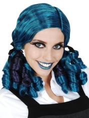 Ashley Ringlets Blue Purple Deluxe Wig