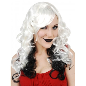 White Black Curly Halloween Wigs