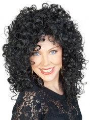Black Curly Lady Wig