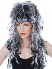 Evilene Black and White Wig