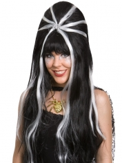 Black White Beehive Halloween Wigs
