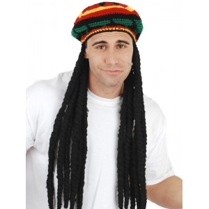 Rasta Knitted Hat with Dreadlocks