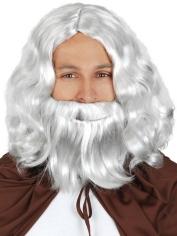 Light Grey Wig with Beard