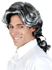 Orlando Black and Grey Wig