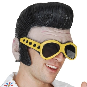 Elvis Latex Headpiece with glasses