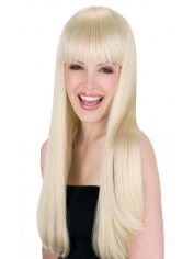 Long Blonde Wig with Fringe
