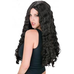 Long Black Curly Wig