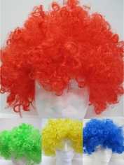 Coloured Afro Wig