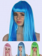 Coloured Long Wig with Fringe