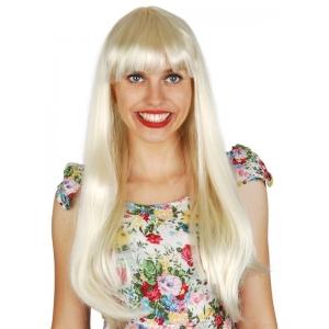 Long Blonde Wig with Fringe