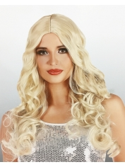 Long Curly Blond Wig - Natural Look Wigs
