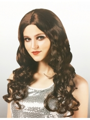 Long Curly Brown Wig - Natural Look Wigs