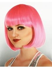 Hot Pink Bob - Natural Look Wigs