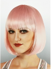 Light Pink Bob - Natural Look Wigs