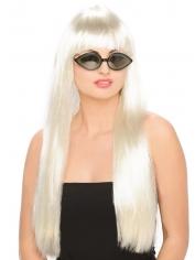Ladies Long White Wig