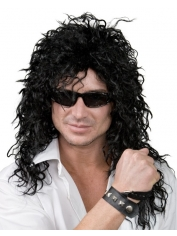 Rock Long Black - 80's Wigs