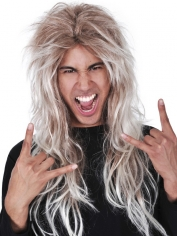 Long Rocker Blonde Wig