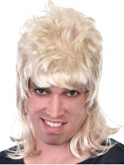 Short Blonde Mullet - 80's Wigs