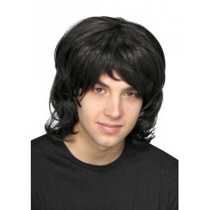 70's Black Wig