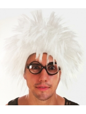 White Spiky Wig - Scientist Costumes