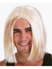 Mens Lob Blonde Wig