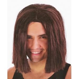 Mens Lob Brown Wig