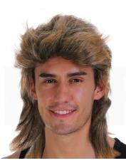 80's Mullet Brown Wig
