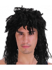 Rock Star Black Wig