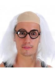 White Scientist Wig