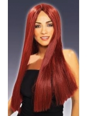 Halloween Long BURGUNDY Wig