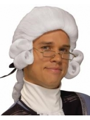Colonial Man White Wig